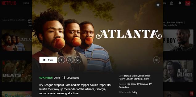 Watch Atlanta Series on Netflix 3