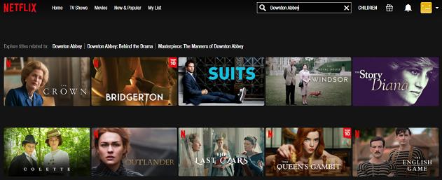 Watch Downton Abbey on Netflix 1