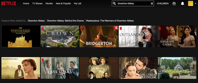 Watch Downton Abbey on Netflix 2