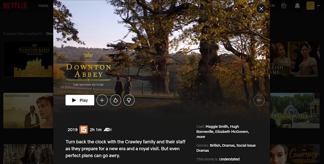 Watch Downton Abbey on Netflix 3