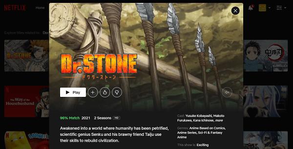 Ver Dr. Stone en Netflix 3