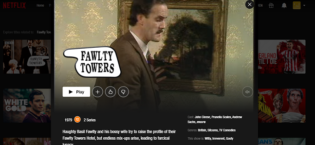 Watch Fawlty Towers on NetFlix 3