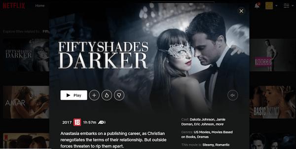 Watch Fifty Shades Darker (2017) on Netflix 3