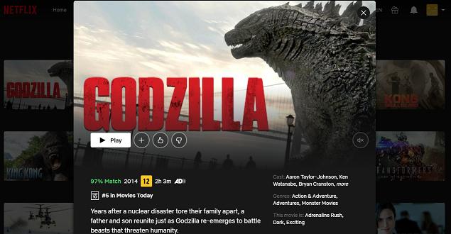 Watch Godzilla (2014) on Netflix 3