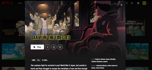 Watch Grave of the Fireflies (1998) on Netflix 3