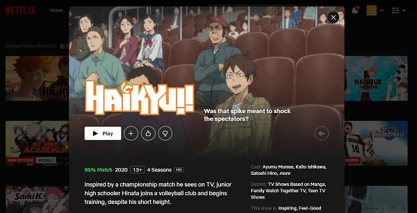 Watch Haikyuu on Netflix 3