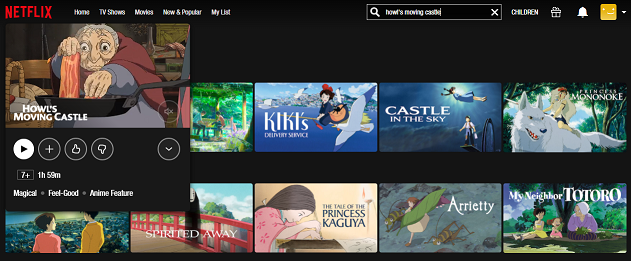Watch Howl's Moving Castle (2004) on Netflix 2