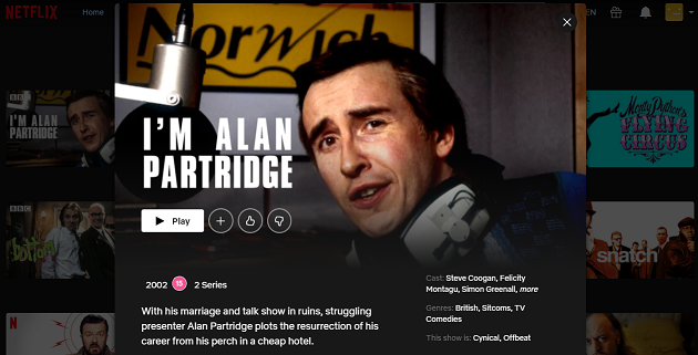 Watch I'm Alan Partridge on Netflix 3
