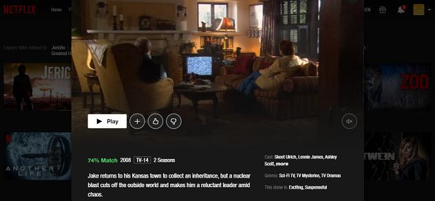 Watch Jericho on NetFlix both of the 2 Seasons 3