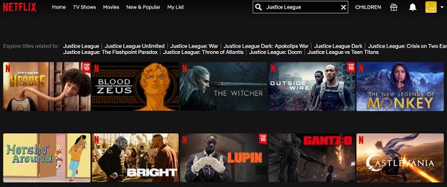 Watch Justice League on Netflix 1