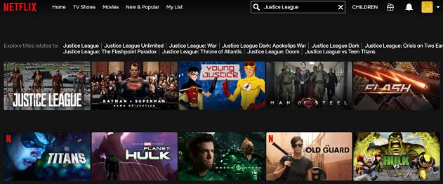 Watch Justice League on Netflix 2
