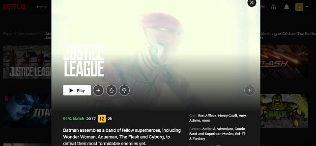Watch Justice League on Netflix 3