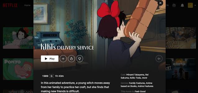 Watch Kiki's Delivery Service (1989) on Netflix 3