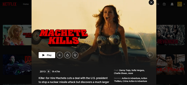 Watch Machete Kills on Netflix 3
