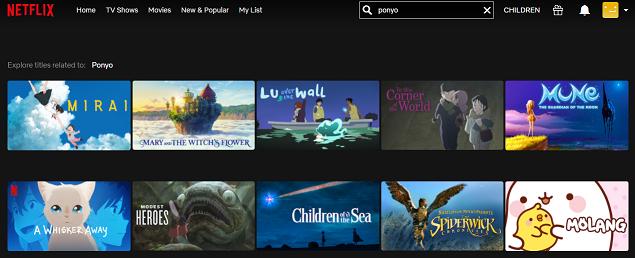 Watch Ponyo (2008) on Netflix 1