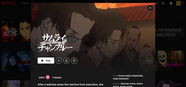 Watch Samurai Champloo all Episodes on NetFlix 3