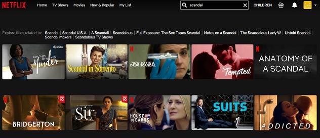Watch Scandal all 7 Seasons on NetFlix 1