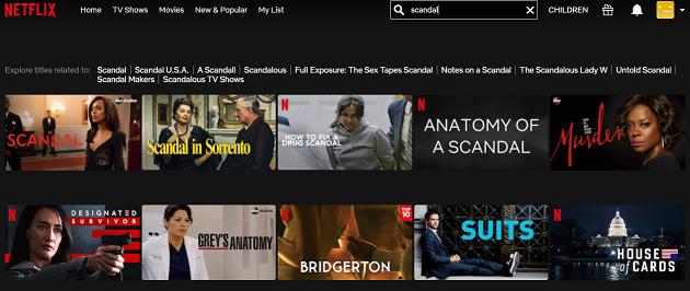 Watch Scandal all 7 Seasons on NetFlix 2