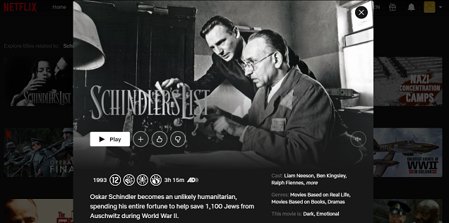 Watch Schindler's List (1993) on Netflix 3