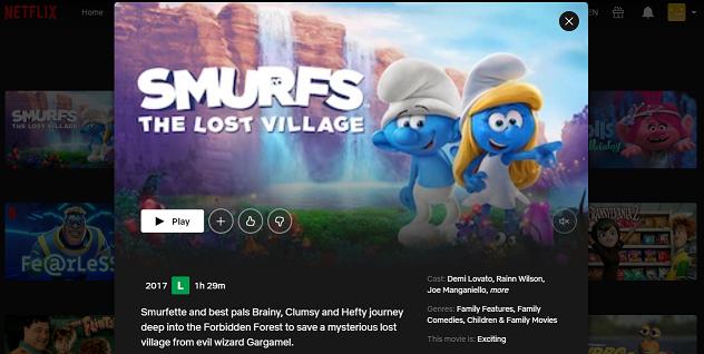 Watch Smurfs - The Lost Village on Netflix 3