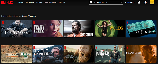 Watch Sons of Anarchy on Netflix 1