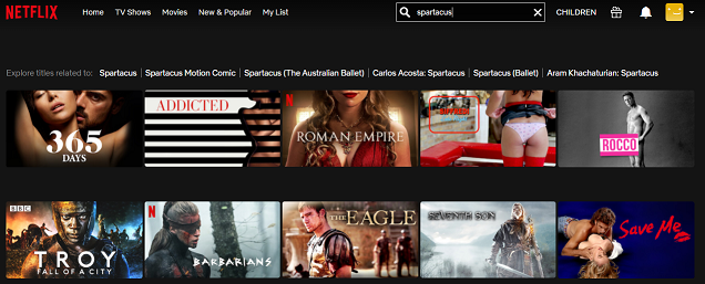 Watch Spartacus all 4 Seasons on Netflix 1