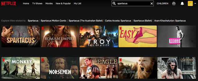 Watch Spartacus all 4 Seasons on Netflix 2