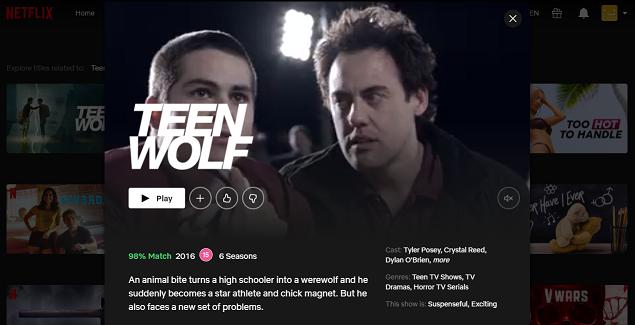 Watch Teen Wolf all 6 Seasons on Netflix 3