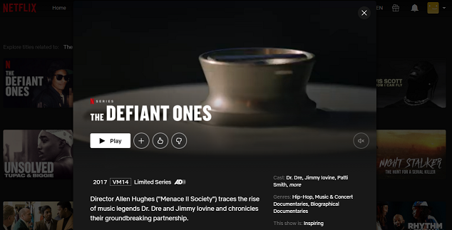 Watch The Defiant Ones on Netflix 3