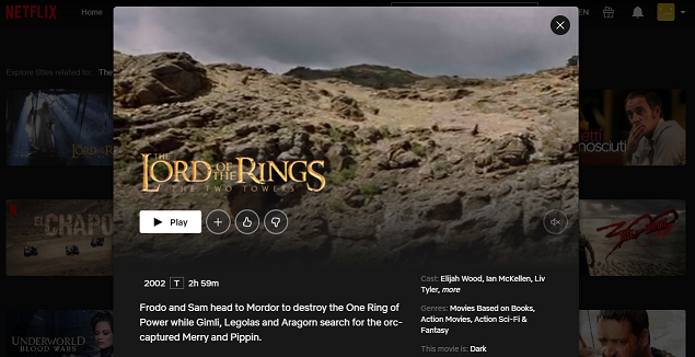Watch The Lord of the Rings - The Fellowship of the Ring on Netflix 3