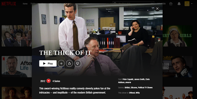 Watch The Thick Of It on Netflix 3