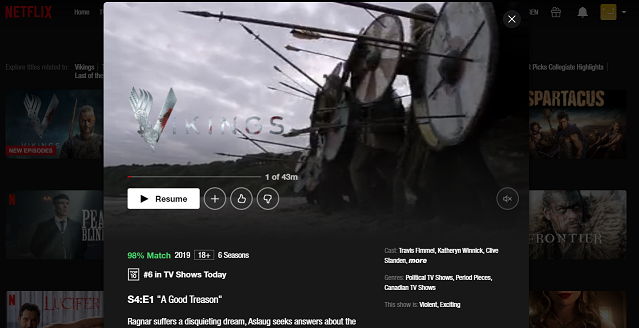 Watch Vikings all 6 Seasons on Netflix 3