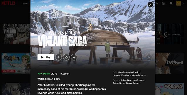 Watch Vinland Saga all Episodes on Netflix 3