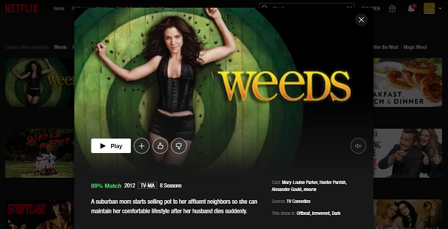 Watch Weeds all 8 Seasons on NetFlix 3