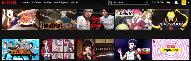 How to watch Food Wars all seasons on Netflix 2