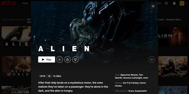 Watch Alien (1979) on Netflix 3