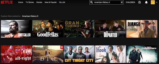 Watch American History X (1998) on Netflix 1