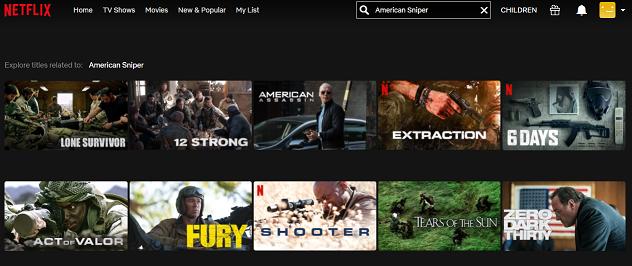 Watch American Sniper (2014) on Netflix 1