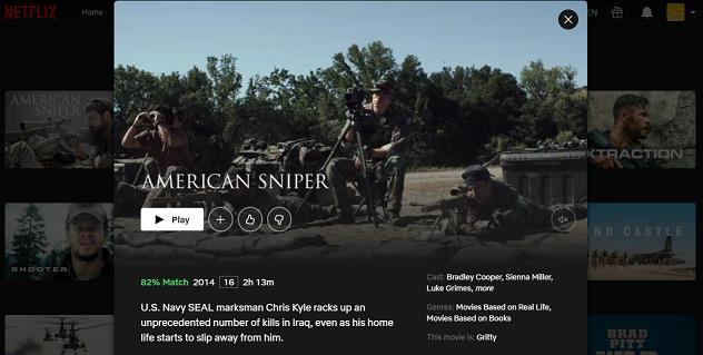 Watch American Sniper (2014) on Netflix 3
