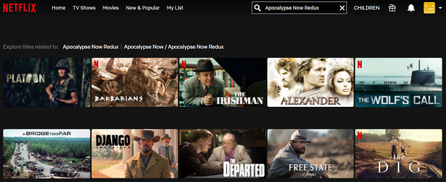 Watch Apocalypse Now Redux (2001) on Netflix 1