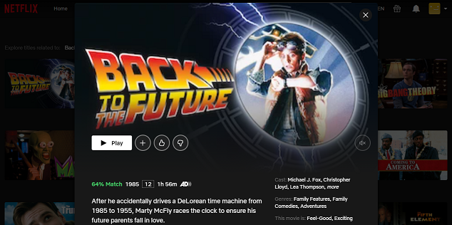 Watch Back to the Future (1985) on Netflix 3