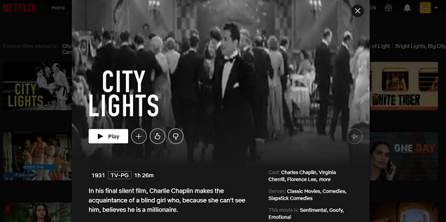 Watch City Lights (1931) on Netflix 3