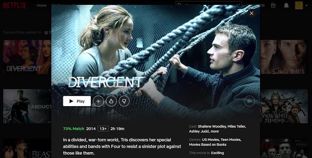 Watch Divergent (2014) on Netflix 3