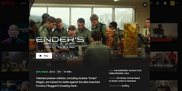 Watch Ender's Game (2013) on Netflix 3