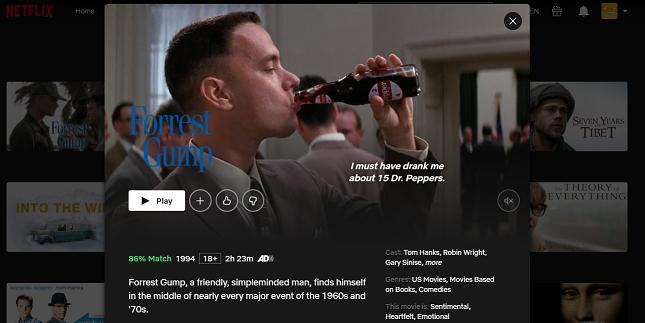 Watch Forrest Gump (1994) on Netflix 3