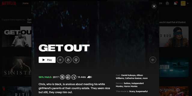 Watch Get Out (2017) on Netflix 3