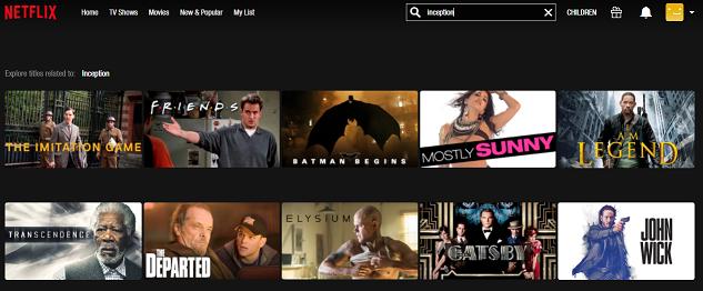 Watch Inception (2010) on Netflix 1