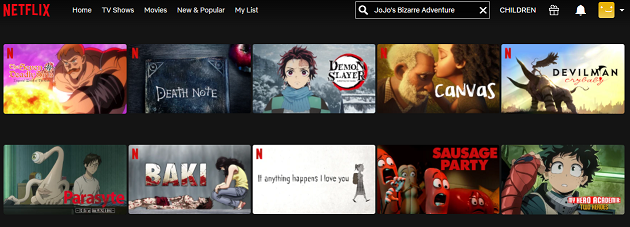 Watch JoJo's Bizarre Adventure on Netflix 1