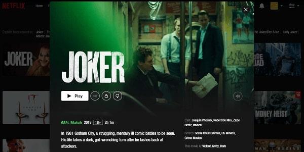 Watch Joker (2019) on Netflix 3