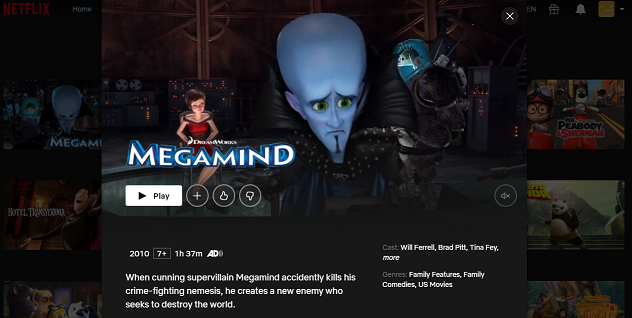 Watch Megamind (2010) on Netflix 3